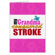 Grandma Stroke Thank You Card