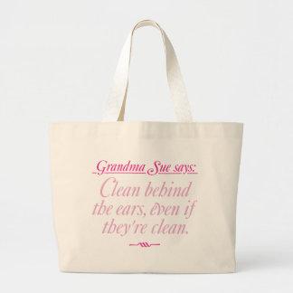 Grandma Sue Says Clean Jumbo Tote Bag