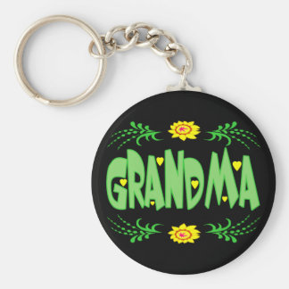 Grandma T-shirts and Gifts For Her Basic Round Button Keychain