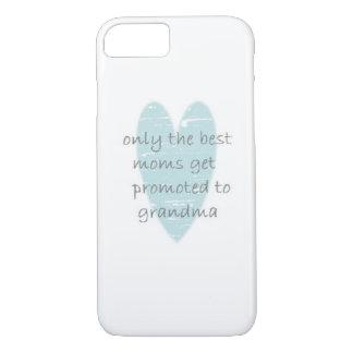 Grandma Teal Heart iPhone case
