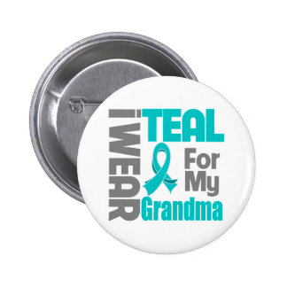 Grandma - Teal Ribbon Ovarian Cancer Support Button