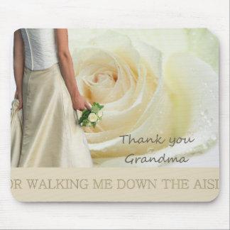 Grandma   Thanks for Walking me down Aisle Mouse Pad
