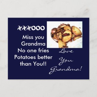 Grandma the tater Queen Postcard. postcard