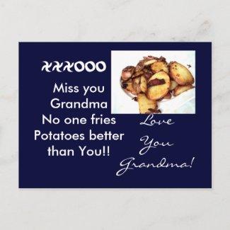 Grandma the tater Queen Postcard. postcard