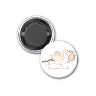 Grandma To Be 1 Inch Round Magnet