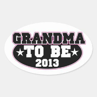 Grandma to be 2013 oval sticker