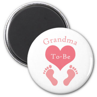Grandma To-Be 2 Inch Round Magnet