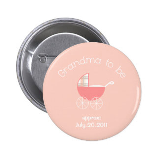 Grandma to be-Baby Girl Button