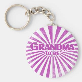 Grandma to Be Basic Round Button Keychain