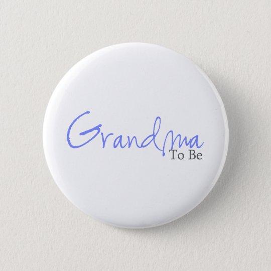 Grandma To Be (Blue Script) Button