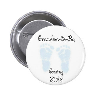 Grandma To Be (boy) Pin