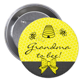 Grandma To Be Bumble Bee 3 Inch Round Button