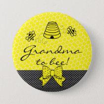 Grandma To Be Bumble Bee Pinback Button