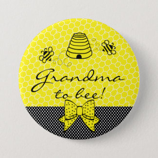 Grandma To Be Bumble Bee Pinback Button