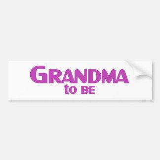 Grandma to Be Car Bumper Sticker