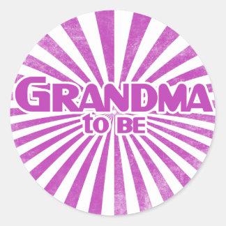 Grandma to Be Classic Round Sticker