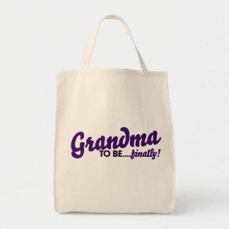 Grandma to be finally canvas bag
