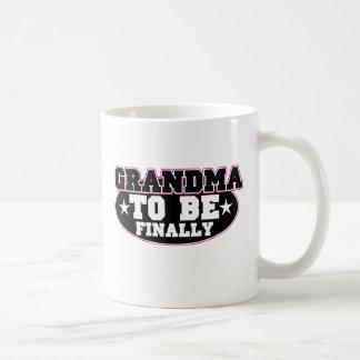 Grandma to be Finally Classic White Coffee Mug
