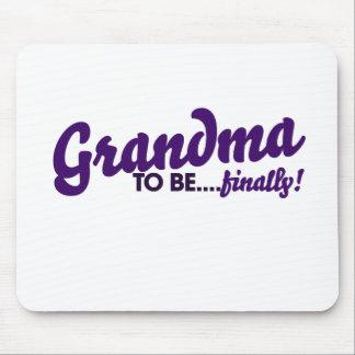Grandma to be finally mouse pad