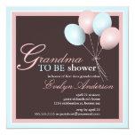 Grandma to be First Grandchild Baby Shower 5.25x5.25 Square Paper Invitation Card