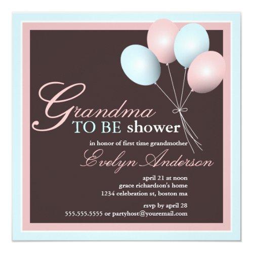 Grandma to be First Grandchild Baby Shower Invitation
