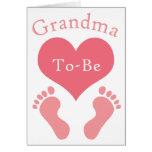 Grandma To-Be Greeting Card