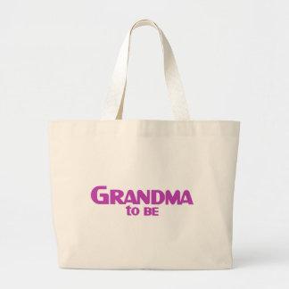 Grandma to Be Jumbo Tote Bag