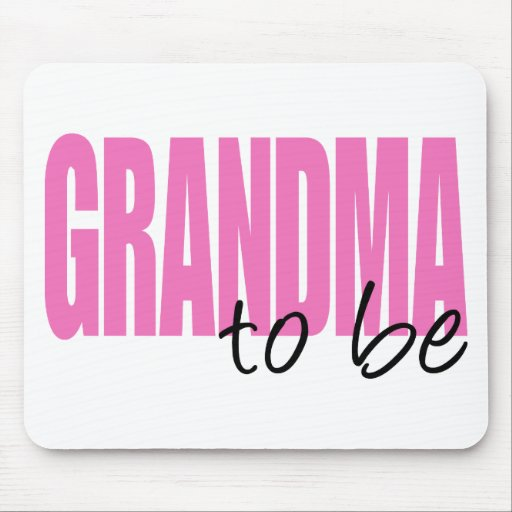Grandma To Be (Pink Block Font) Mouse Pads