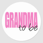 Grandma To Be (Pink Block Font) Sticker