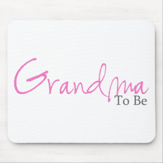 Grandma To Be (Pink Script) Mouse Pads