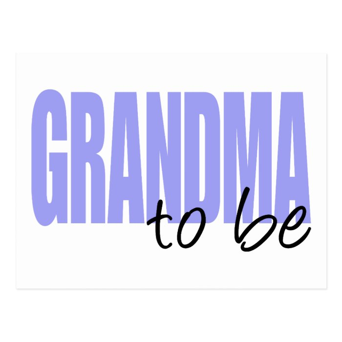 Grandma To Be (Purple Block Font) Postcard
