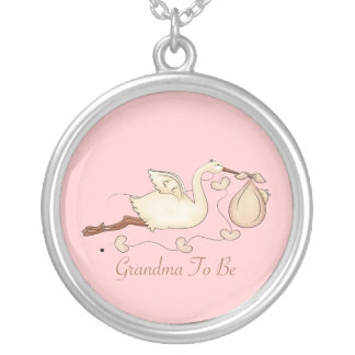 Grandma To Be Round Pendant Necklace
