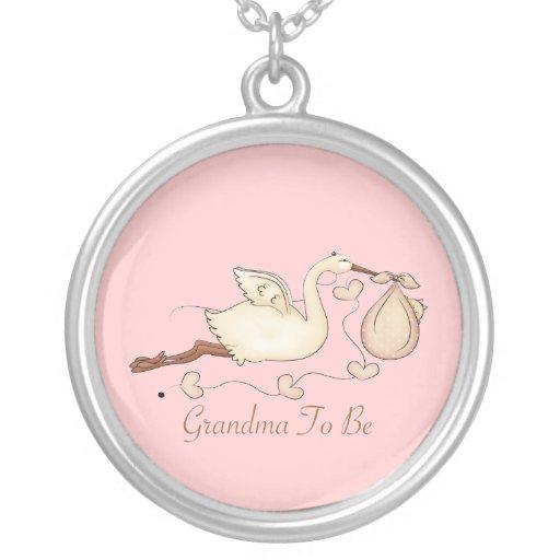 Grandma To Be Round Pendant Necklace