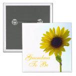 Grandma To Be Sunflower Pin