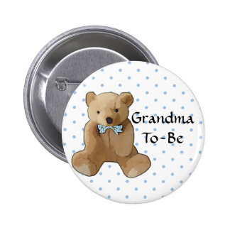 Grandma To Be Teddy Bear Baby Shower Button