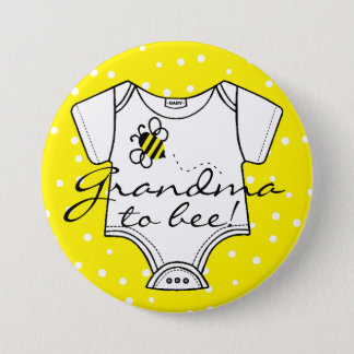 Grandma To Be Yellow Bumble Bee Pinback Button