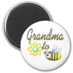 Grandma to Bee 2 Inch Round Magnet
