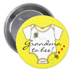 Grandma To Bee 3 Inch Round Button