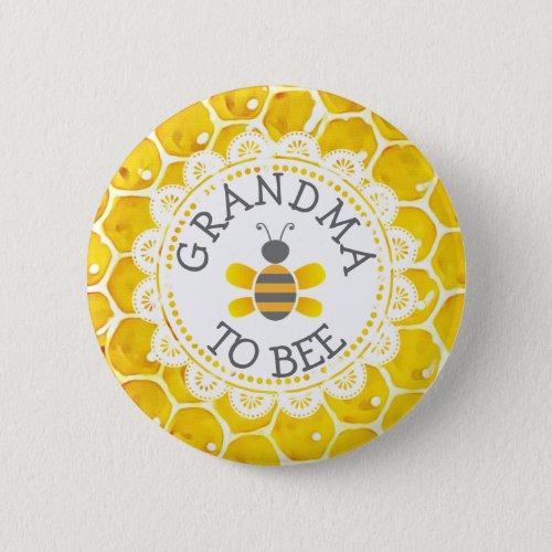 Grandma to Bee Baby Shower Button