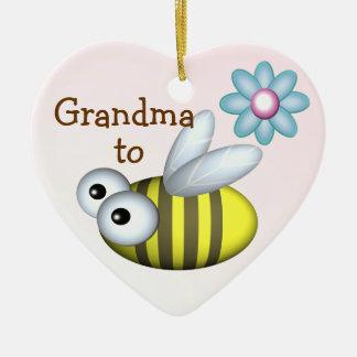 Grandma to Bee/ Expecting announcement Ceramic Ornament