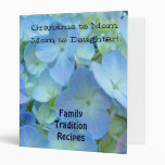 Grandma to Mom to Daughter binder Family Recipes
