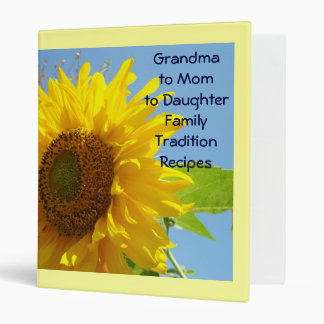 Grandma to Mom to Daughter Family Recipes binder