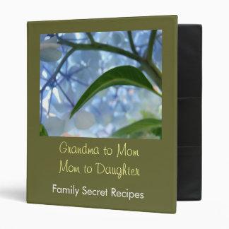 Grandma to Mom to Daughter Family Secret Recipes Binder