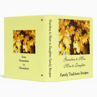 Grandma to Mom to Daughter Family Tradition Recipe Binder