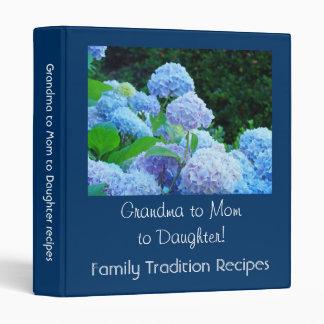 Grandma to Mom to Daughter Recipes binder Holidays