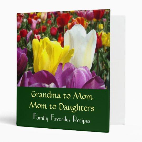 Grandma to Mom to Daughters Family Favorite recipe Binder