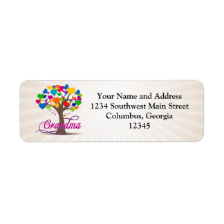 Grandma Tree of Hearts Return Address Labels
