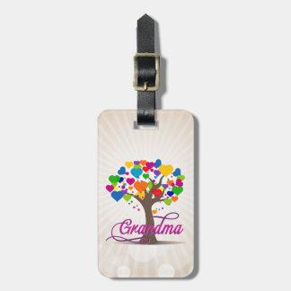 Grandma Tree of Life Hearts Bag Tag