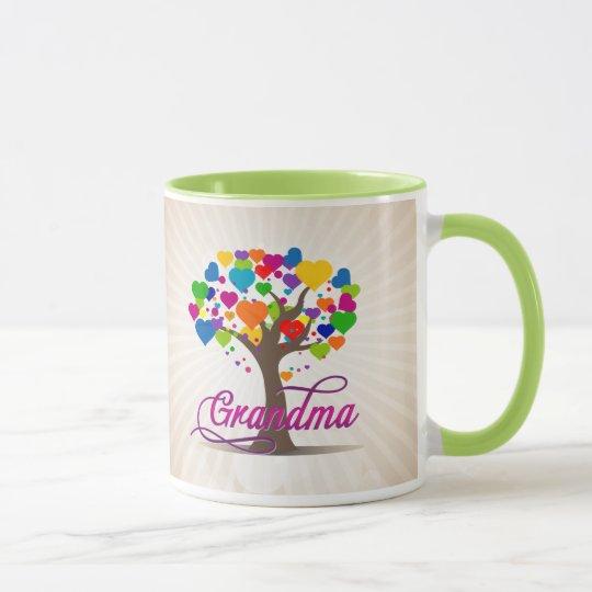 Grandma Tree of Life Hearts Mug