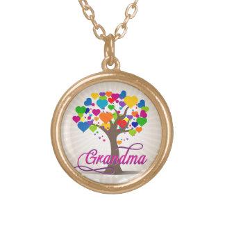 Grandma Tree of Life Hearts Pendant Necklace